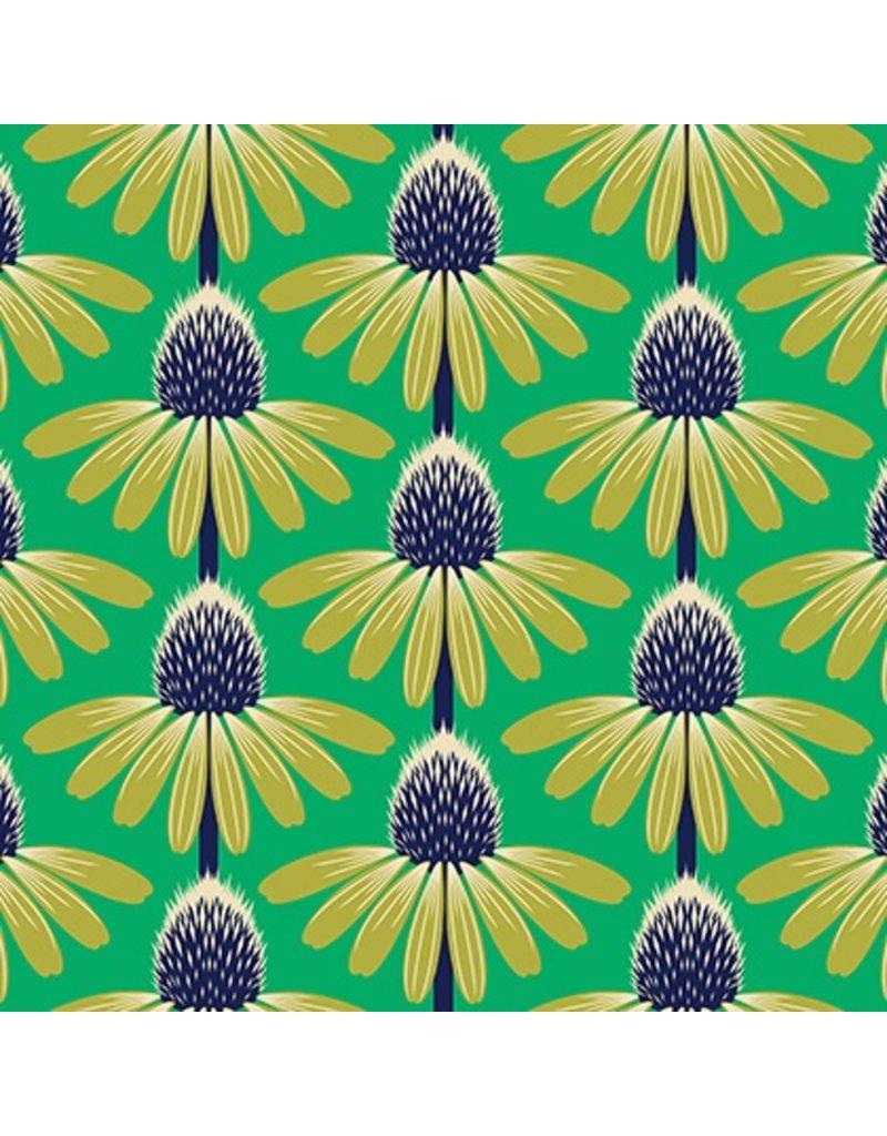 Anna Maria Horner Floral Retrospective, Echinacea in Preppy, Fabric Half-Yards