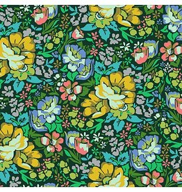 Anna Maria Horner Floral Retrospective, Overachiever in Forest, Fabric Half-Yards