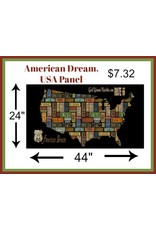 "Blank Quilting American Dream, USA Panel in Black, 24"" Fabric Panel"