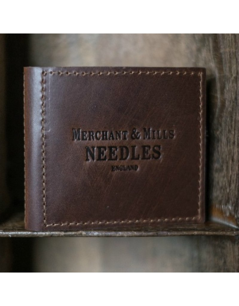 Merchant & Mills Leather Needle Wallet (includes 25 Finest Needles & baby Bow Scissors),  from Merchant & Mills, England