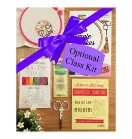 Jen Senor, Instructor 12/02: Embroidery Class Kit Fee