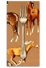 Picking Daisies Dinner Napkin Kit: Santa Fe, Love of Horses in Taupe
