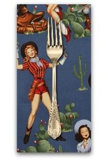 PD's Alexander Henry Collection Santa Fe, From the Hip in Chambray, Dinner Napkin