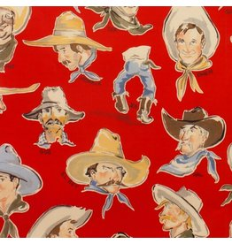 Alexander Henry Fabrics Santa Fe, Buckaroos in Red, Fabric Half-Yards