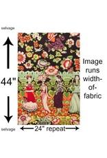 Alexander Henry Fabrics Folklorico, Frida la Catrina in Eggplant, Fabric Half-Yards