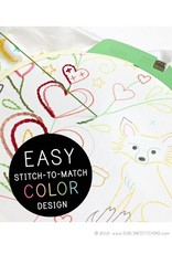 Sublime Stitching Embroidery Kit, Pillow Cover: Folk Foxes from Sublime Stitching