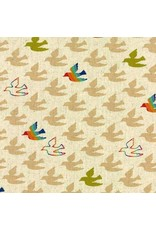 Moda Linen Mochi Flying Colors in Clover, Fabric Half-Yards
