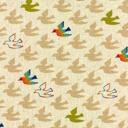 Moda Linen Mochi Flying Colors in Clover, Fabric Half-Yards