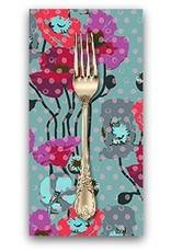 Picking Daisies Dinner Napkin Kit: Floral Retrospective, Raindrop Poppies in Plum