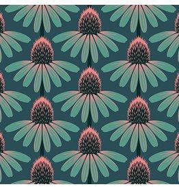 Anna Maria Horner Floral Retrospective, Echinacea in Dim, Fabric Half-Yards