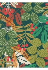 PD's Alexander Henry Collection Christmas Time, Pine Berry in Hunter Green, Dinner Napkin