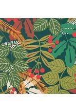 Alexander Henry Fabrics Christmas Time, Pine Berry in Hunter Green, Fabric Half-Yards