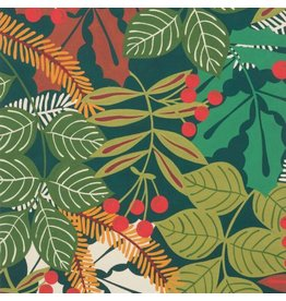 Alexander Henry Fabrics Christmas Time, Pine Berry in Hunter Green, Fabric Half-Yards