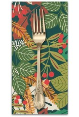Picking Daisies Dinner Napkin Kit: Pine Berry in Hunter Green