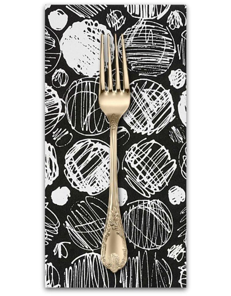 Picking Daisies Dinner Napkin Kit: Black and White, Toulouse in Black