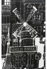 Picking Daisies Dinner Napkin Kit: Black and White, Moulin Rouge in Black