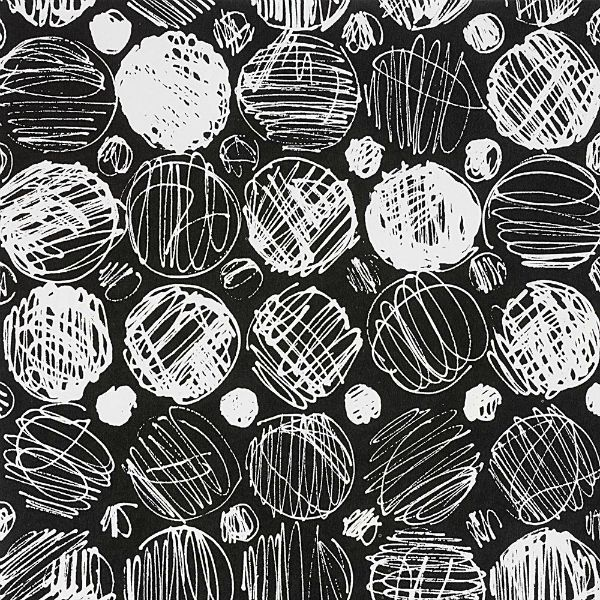 Alexander Henry Fabrics Black and White, Toulouse in Black, Fabric Half-Yards
