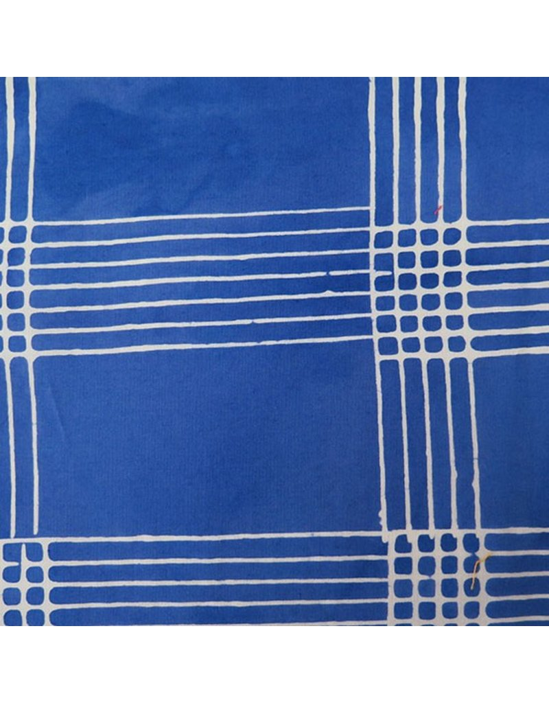 Alison Glass Chroma - A Handcrafted Collection, Plaid in Cobalt, Fabric Half-Yards