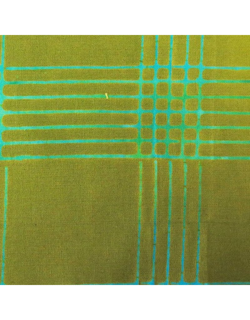 Alison Glass Chroma - A Handcrafted Collection, Plaid in Olive, Fabric Half-Yards