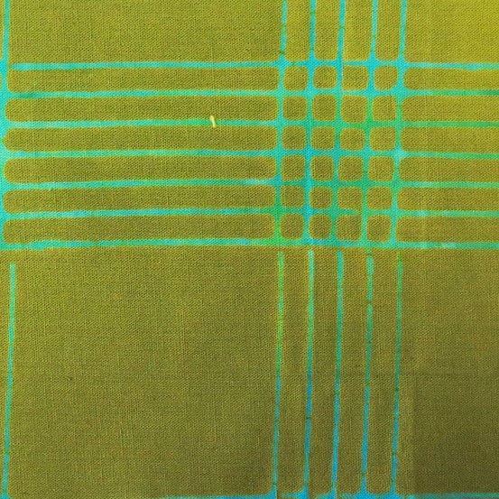 Alison Glass Chroma - A Handcrafted Collection, Plaid in Olive, Fabric Half-Yards AB-8132-G1