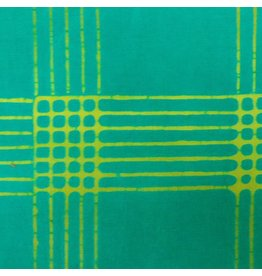 Alison Glass Chroma - A Handcrafted Collection, Plaid in Emerald, Fabric Half-Yards