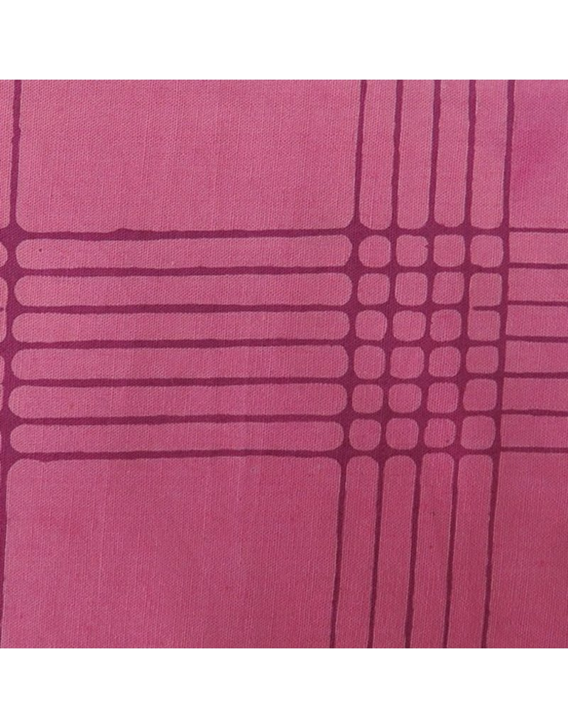 Alison Glass Chroma - A Handcrafted Collection, Plaid in Plum, Fabric Half-Yards