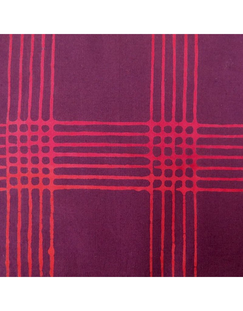 Alison Glass Chroma - A Handcrafted Collection, Plaid in Eggplant, Fabric Half-Yards