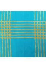 Alison Glass Chroma - A Handcrafted Collection, Plaid in Turquoise, Fabric Half-Yards