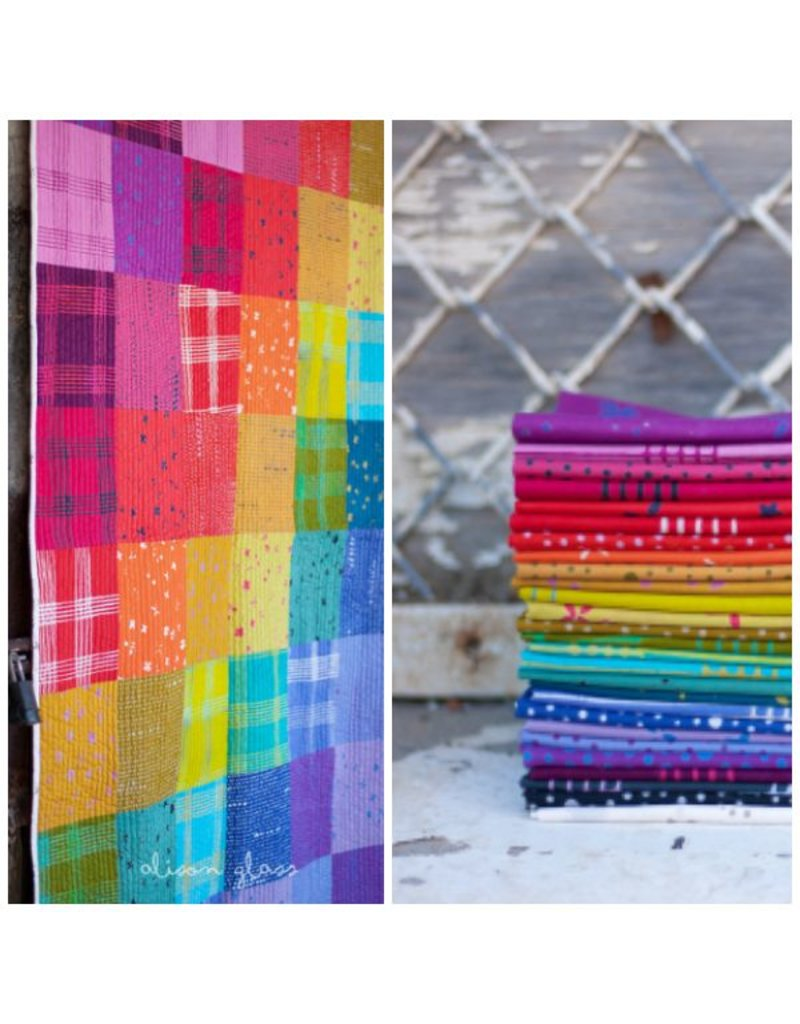 Alison Glass Chroma - A Handcrafted Collection, Scatter in Periwinkle, Fabric Half-Yards
