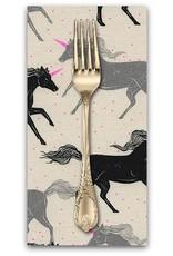 Picking Daisies Dinner Napkin Kit: Magic Forest, Unicorns in Noir