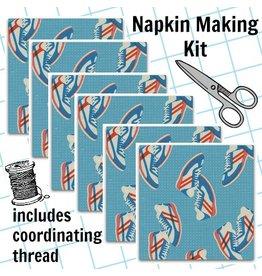 Picking Daisies Dinner Napkin Kit: Kicks, Sneakers in Blue
