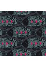 Picking Daisies Dinner Napkin Kit: Magic Forest, Fish in Charcoal