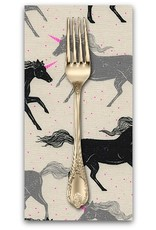 PD's Sarah Watts Collection Magic Forest, Unicorns in Noir, Dinner Napkin
