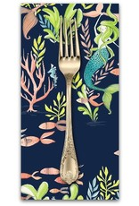 Picking Daisies Dinner Napkin Kit: Mermaid Days, Frolicking At the Bottom of the Sea in Navy