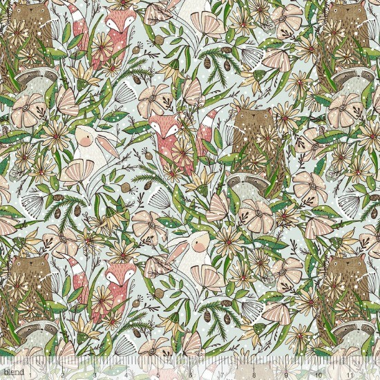 PD's Blend Fabrics Collection Winter News, Frolicking in Grey, Dinner Napkin