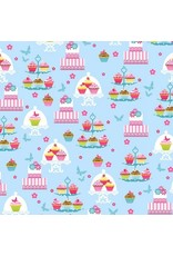 PD's Studio e Collection Cupcake Cafe, Sweets in Aqua, Dinner Napkin