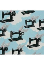 Alexander Henry Fabrics The Real Surreal, Flying Machines in Sky, Fabric Half-Yards