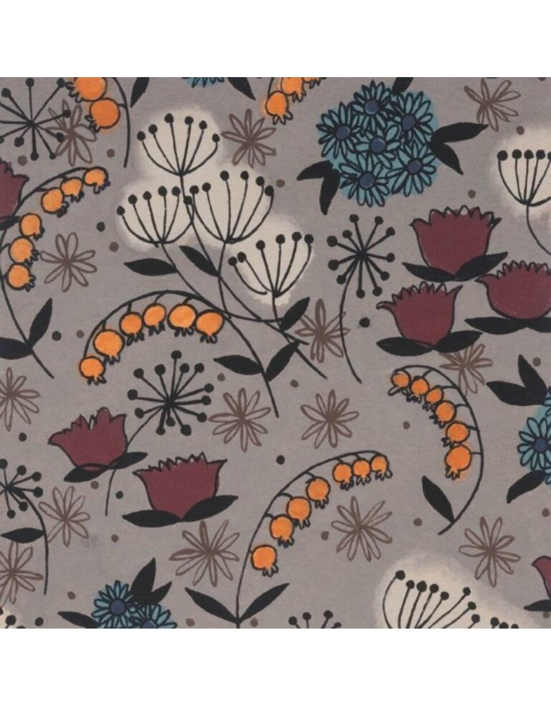 Alexander Henry Fabrics Haunted House, Belinda's Herbs in Smoke, Fabric Half-Yards