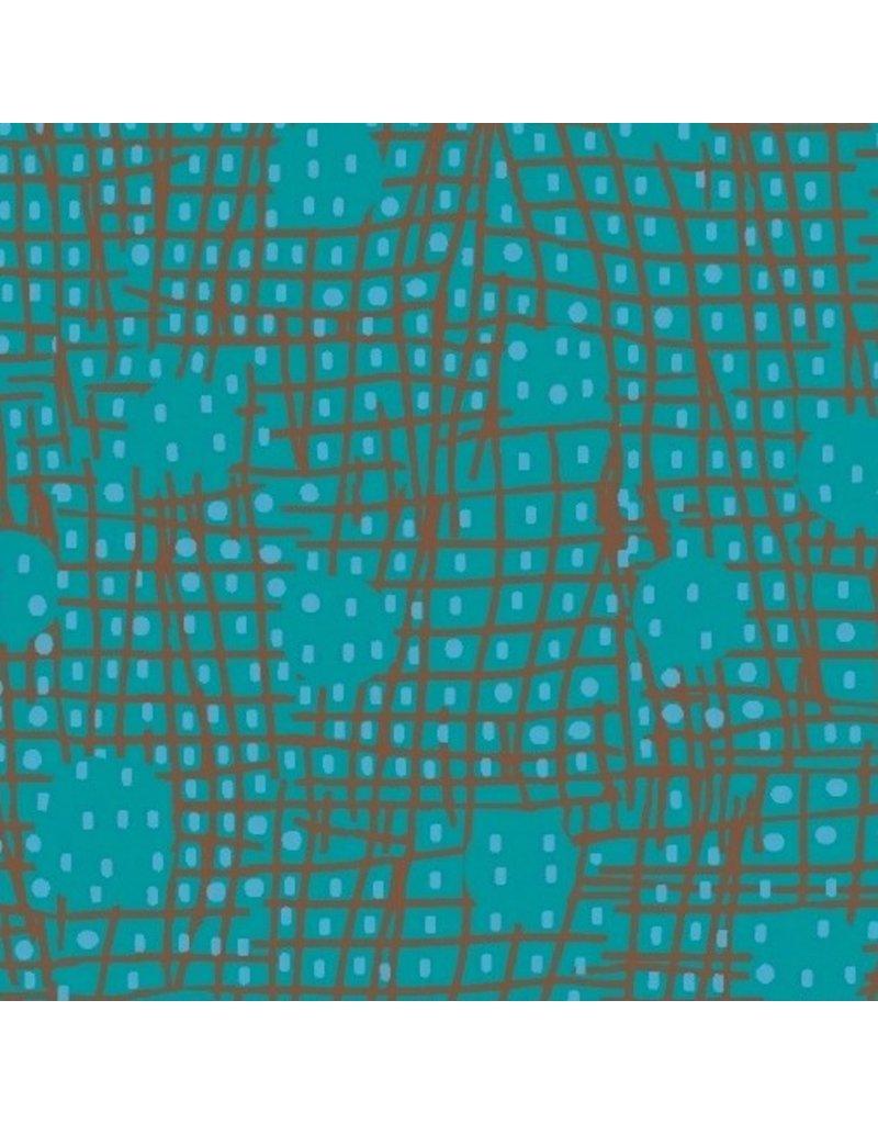 Victoria Findlay Wolfe Futurum, Shift in Aqua, Fabric Half-Yards