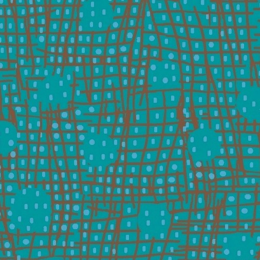 Victoria Findlay Wolfe Futurum, Shift in Aqua, Fabric Half-Yards