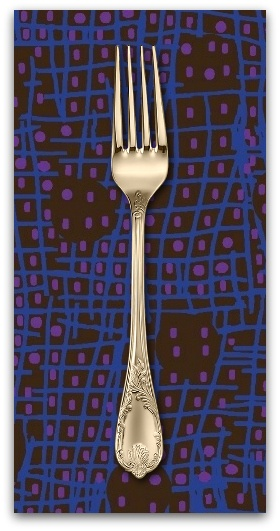 PD's Marcus Fabrics Collection Futurum, Shift in Dark, Dinner Napkin