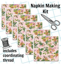 Picking Daisies Dinner Napkin Kit: Menagerie, Jardin de Paris in Peony