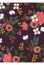 Rifle Paper Co. Rayon, Menagerie, Birch in Eggplant 8008-45, Fabric Half-Yards