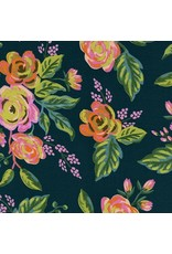 Rifle Paper Co. Rayon, Menagerie, Jardin de Paris in Navy 8037-25, Fabric Half-Yards