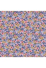 Rifle Paper Co. Menagerie, Rosa in Violet with Metallic 8004-04, Fabric Half-Yards