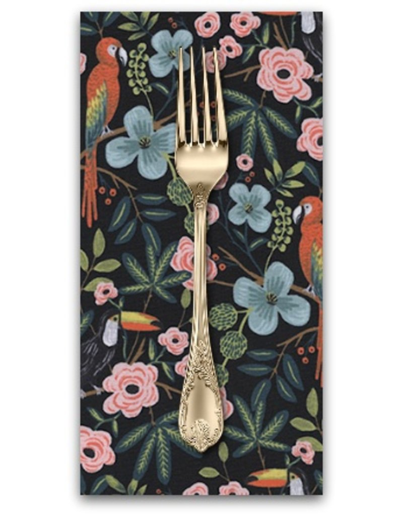 PD's Rifle Paper Co Collection Menagerie, Paradise Garden in Midnight, Dinner Napkin