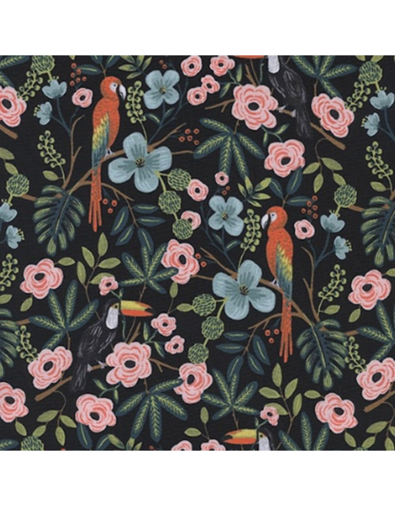 Rifle Paper Co. Menagerie, Paradise Garden in Midnight 8028-01, Fabric Half-Yards