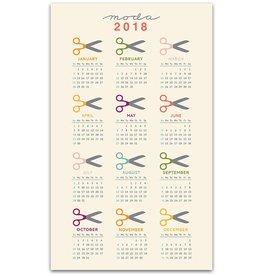 2018 Calendar Tea Towel