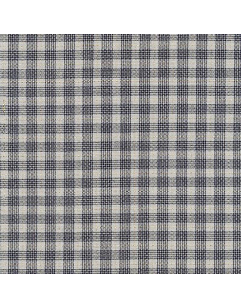 Jennifer Sampou Shimmer On Yarn Dyed, Plaid in Charcoal, Fabric Half Yards,  AJSM-17068-184