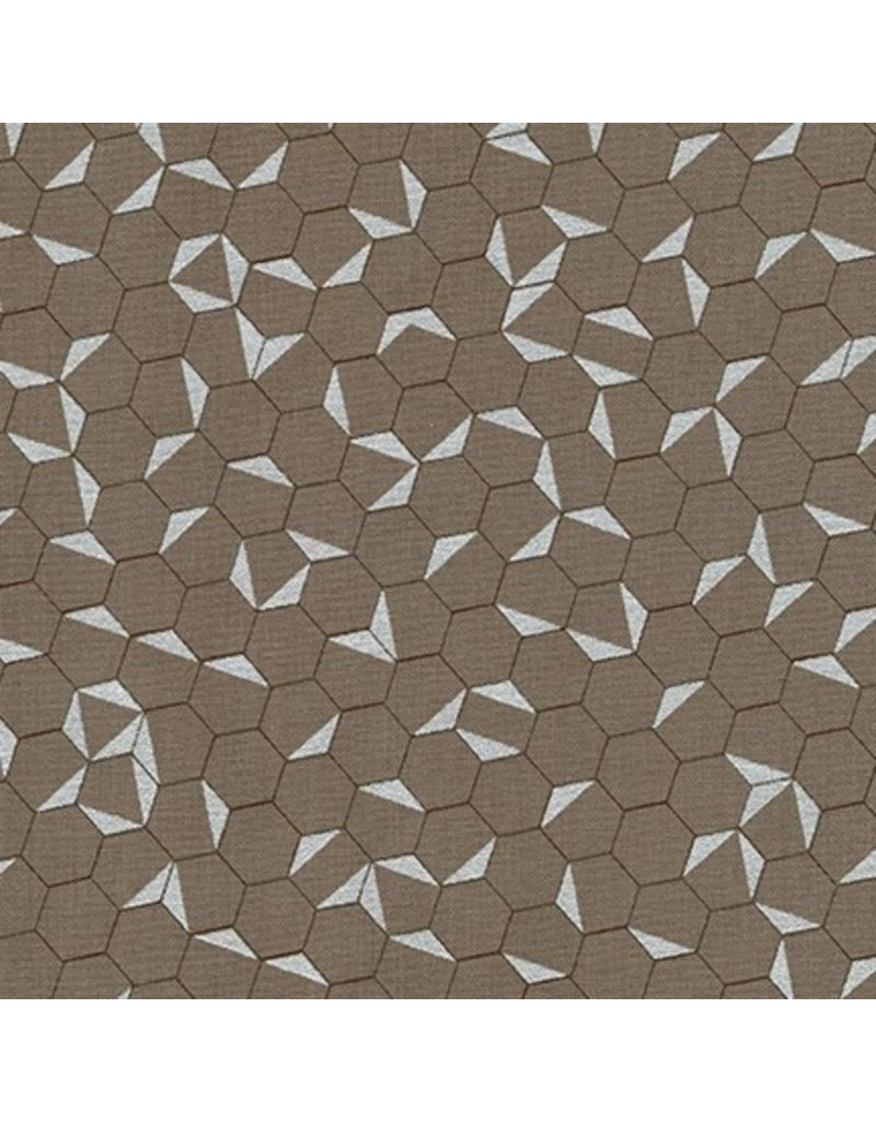 PD's Jennifer Sampou Collection Shimmer On, Hexies in Smoke with Metallic, Dinner Napkin